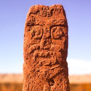 Estatua en Tiahuanaco, Bolivia